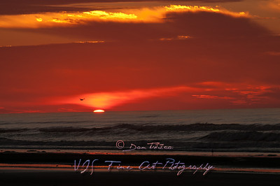 Sunrise at Wildwoods Beach, NJ.