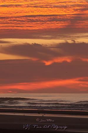 Sunrise at Wildwoods Beach, NJ.