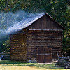 Tobacco Barn at Land Between the Lakes 1850 Homeplace.  I've always enjoyed the smell of wood fires curing tobacco.