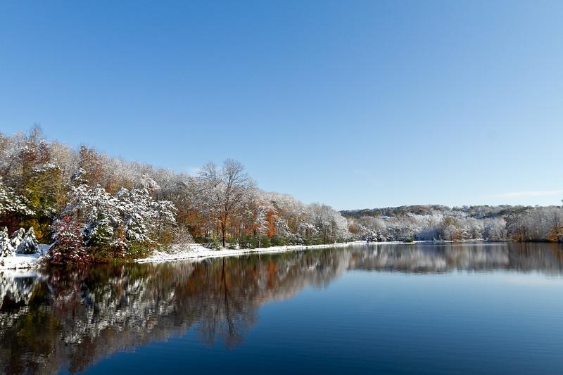 Oct. 30 2011 MacKenzie Reservoir Wlfd CT Winter Storm Albert
