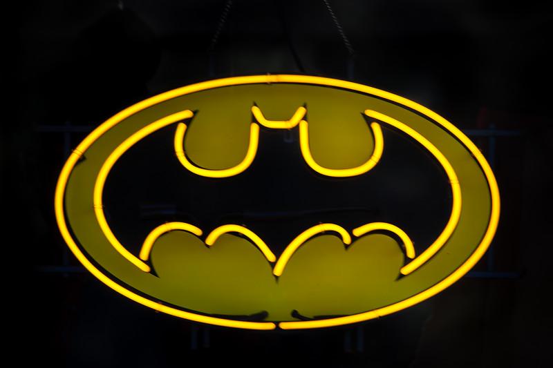 Batman Sign found in Game Store Window-Glendale, AZ
