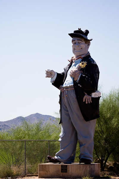 Hobo Joe-2009-08-16-0001<br /> <br /> Stands in memory of Marvin Ransdell-1928-1988.<br /> In Buckeye, AZ.