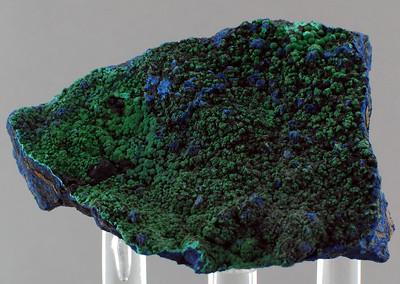 malachite on azurite; 6.5x 5.5 cm