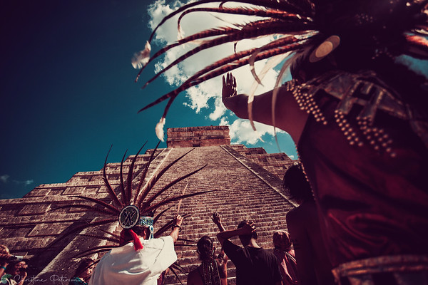 Sunrise Ceremony, Chichen Itza, Mexico, December 21, 2012