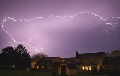 Fast Moving Storm blew through and this was a photo from after it passed. Only a few like this in the storm.