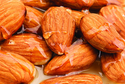 Almonds drenched in honey