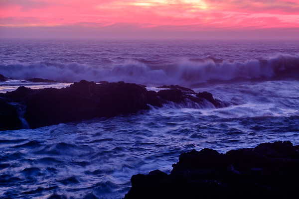Cape Perpetua at Sunset