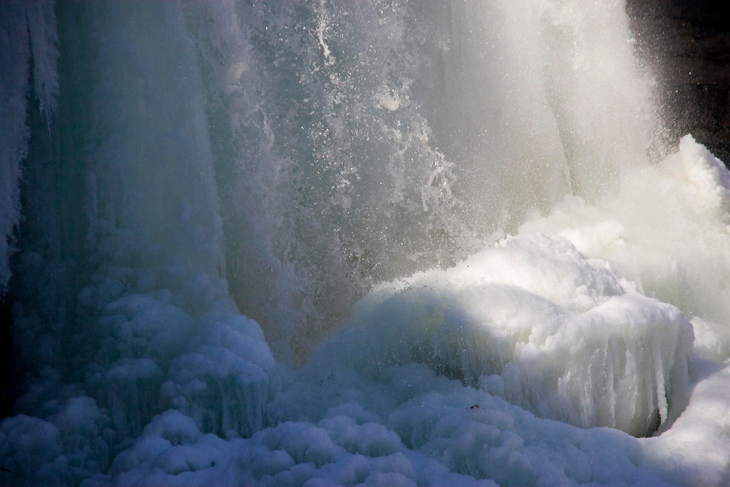 Water Fall In Winter