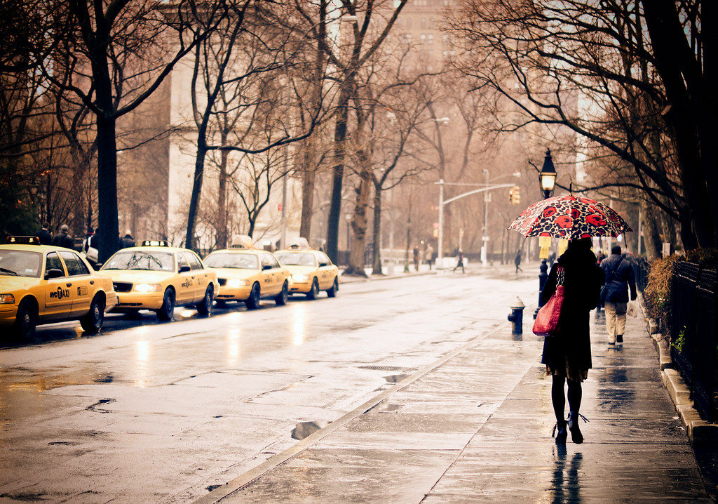 Rain - New York City - Greenwich Village - Washington Square