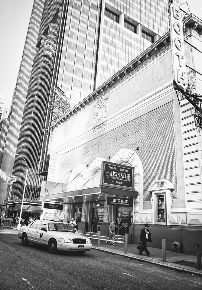 New York City - Historic Theater District - Booth Theatre