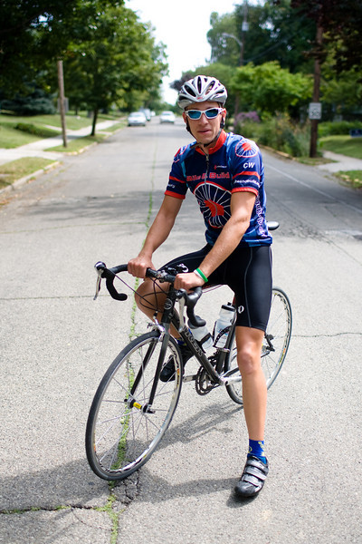 Senior Neil Broshears spent the summer riding his bike across the country. Photo by Alex Turco