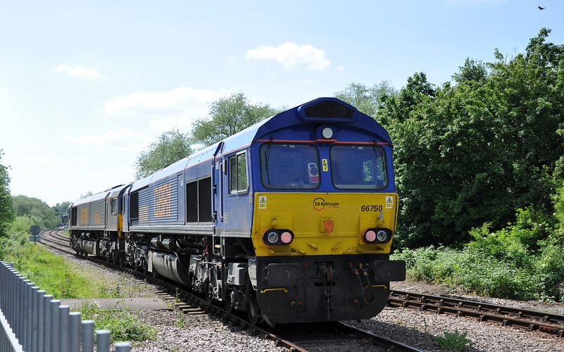 66748 and 66750, Orton Mere.