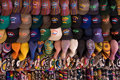 Caps of all kinds in Kathmandu