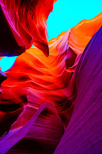 Antelope Canyon Orange Blue Magenta
