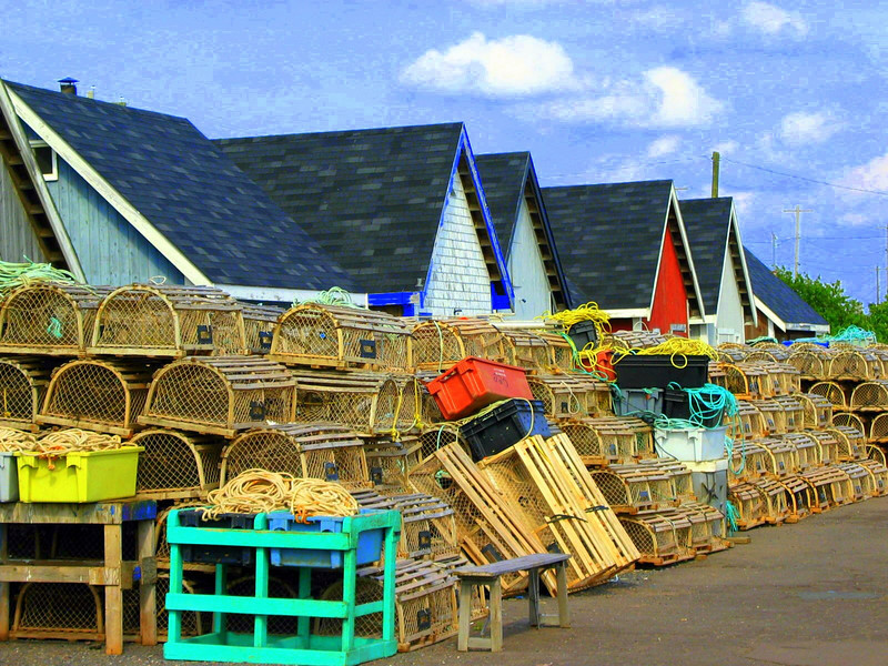 Lobster traps, PEI