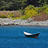 Rowboat in bay