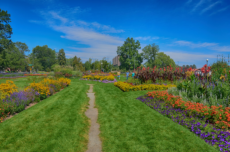 Beautiful Gardens in Washington Park in Denver Colorado 3