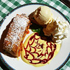 Apple Strudel With Vanilla Ice Cream at Pepi's in Vail CO