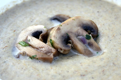 Championgioncremesuppe / Cream of mushroom soup (Home Cooking)