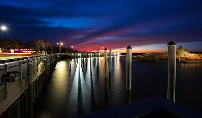 Rock Harbor night lights