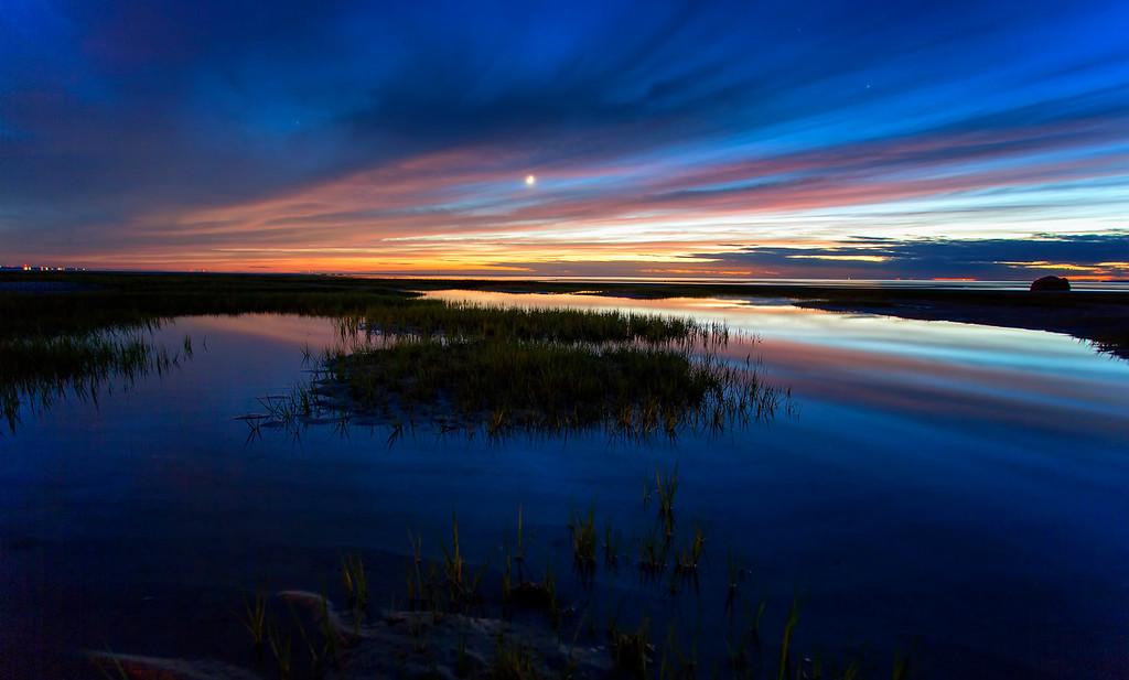 Ptown fire sunset