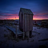 ob pink red outhouse