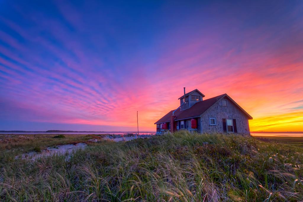 OB house sunset