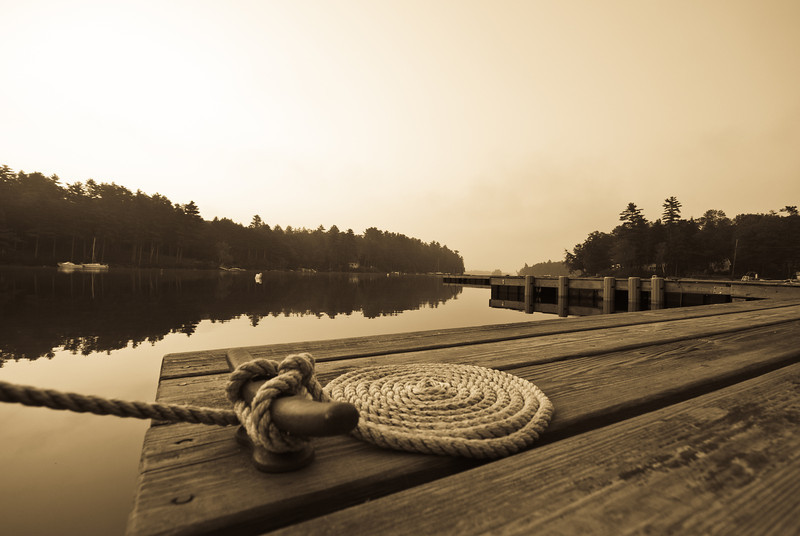 Sebago Lake in the early morning.