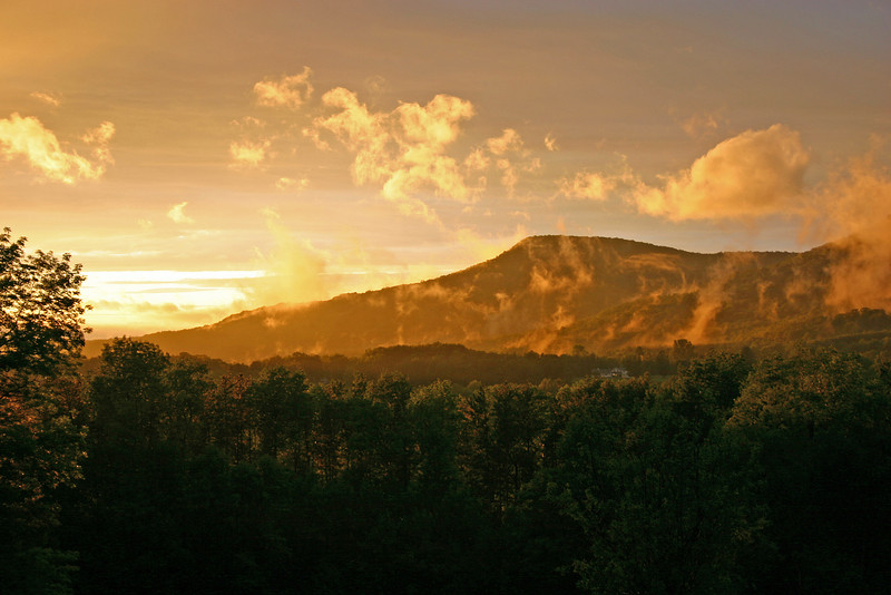 Sunset along the Vermont/New Hampshire border.