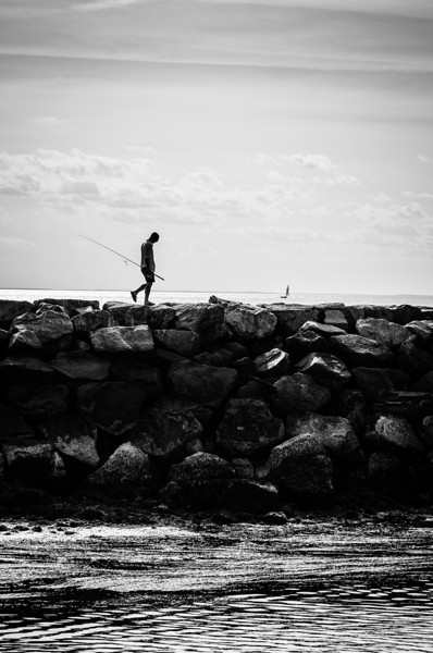 Fisherman on the Yarmouth Breakwater