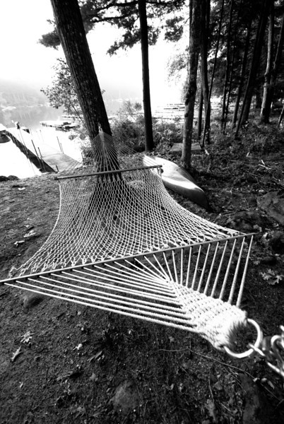 Hammock at Sebago Lake.