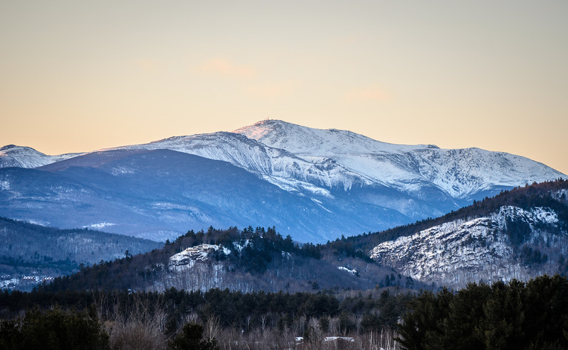 Mount Washington view from North Conway.