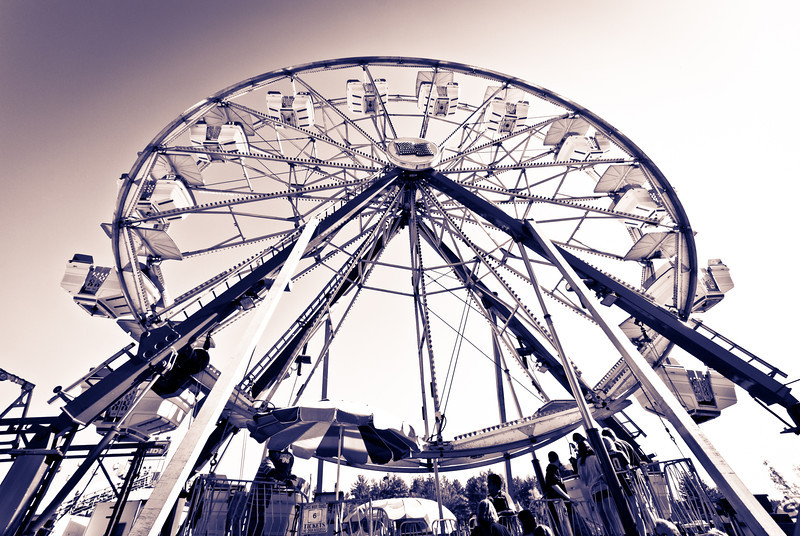 Ferris wheel at Sandwich Fair October 2011.