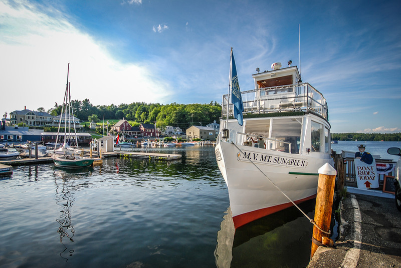 MV Sunapee docked in Sunapee Harbor