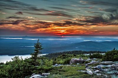 Sunset on Cadillac Mountain