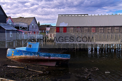 Old Lobster boat in Lubec, Maine.