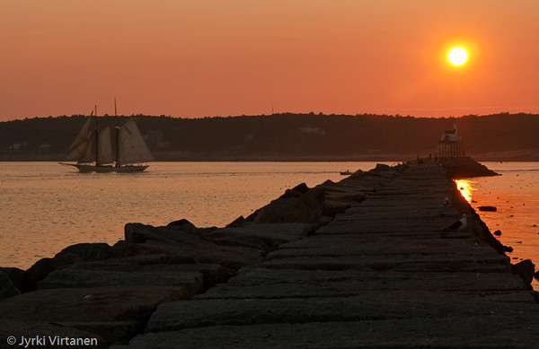 Sailing at Sunset - Gloucester, MA, USA