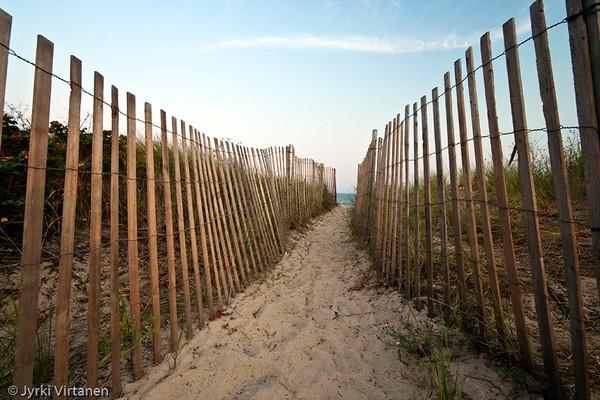 Fenced Path - Woods Hole, MA, USA