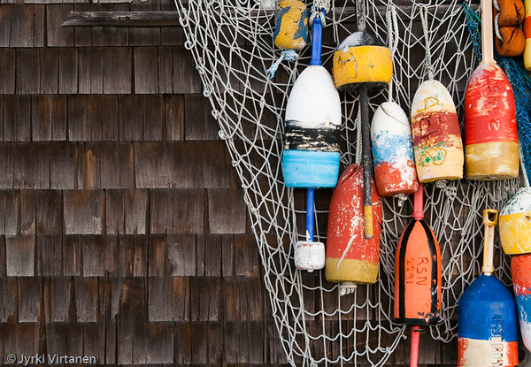 Fishing Buoys - Rockport, MA, USA