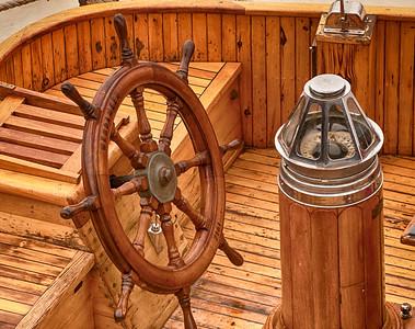 Ship's Wheel & Compass