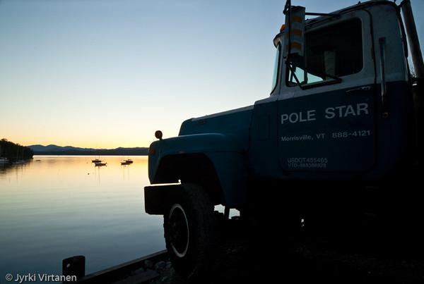 Pole Star at Lake Champlain - Vermont, USA