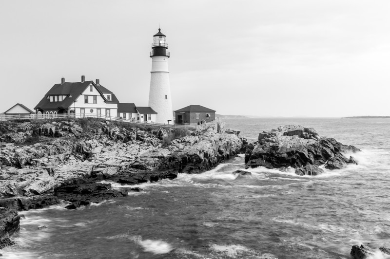 Portland Head Light-Black & White