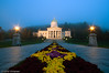 Montpelier City Hall at Misty Dawn - Montpelier, VT, USA