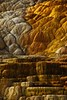 Natural sculpture at Mammoth Hot Springs in Yellowstone.<br /> Photo © Carl Clark