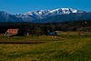Pastoral scene beneath the Olympic mountains in Washington.<br /> ©Carl Clark