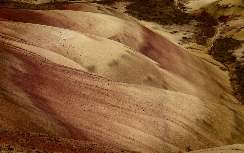 The Painted Hills in Oregon lend themselves to all sorts of abstract possibilities.<br /> Photo © Cindy Clark