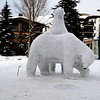 Polar Bear Sculpture in Vail in Colorado