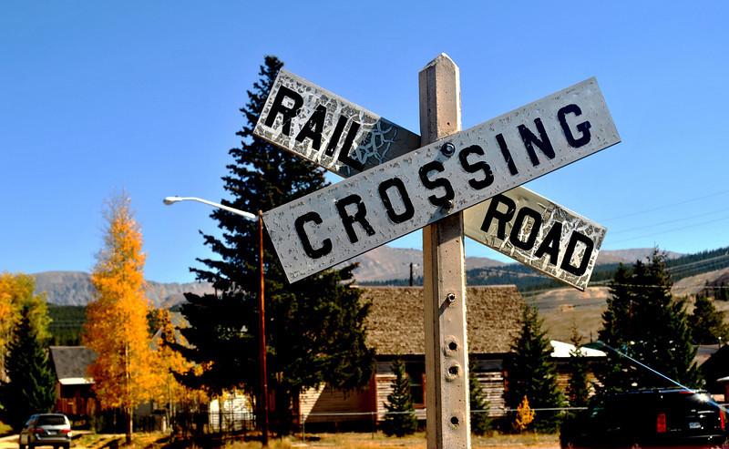 Rail Road Crossing in Leadville Colorado