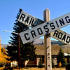 Rail Road Crossing in Leadville Colorado