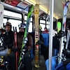 Riding the bus with skiiers and boarders at Vail